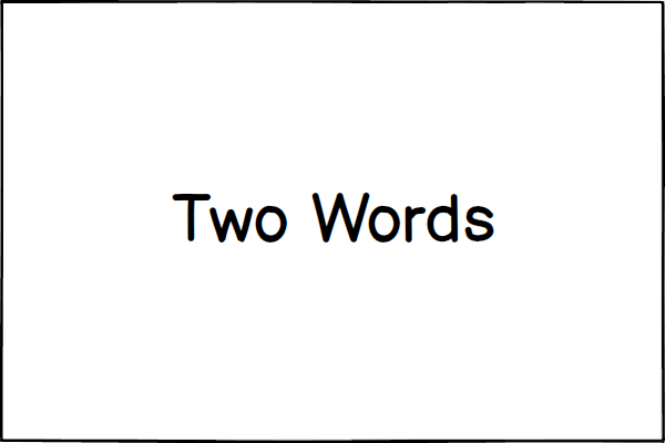 two words